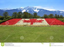 Giant Canadian Flag Canada Text Canadian Flag Stock Photos Royalty Free Pictures