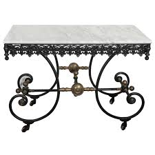 antique french butcher table antique french cast iron wrought iron and brass butcher table