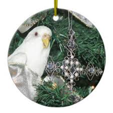 budgie in a pear tree ornaments zazzle