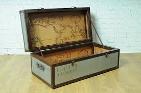 Map Coffee Table Quest Trunk Chest Coffee Table With Map