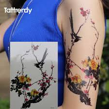 Flower And Bird Tattoo - online buy wholesale flower bird tattoo from china flower bird
