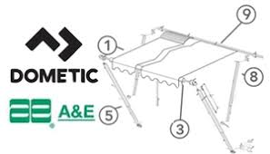 A E Systems By Dometic Awning Parts Caravansplus Spare Parts Diagram Dometic A U0026e 8500 9000 Awning