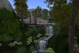 frank lloyd wright waterfall frank lloyd wright u0027s fallingwater in opensim austin tate u0027s blog