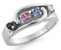 mothers ring 6 stones g 1 to 6 stones s ring