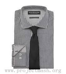 best offer men apparel nick graham black white mini check dress