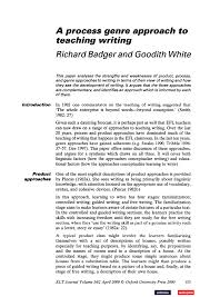 what to write in strengths and weakness in resume a process genre approach to teaching writing pdf download available
