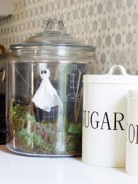 how to make a haunted terrarium for halloween hgtv