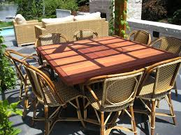 Custom Patio Furniture Covers - handmade outdoor dining table by mark wilson furniture