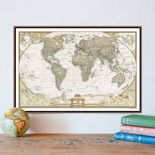 online buy wholesale world map canvas large retro from china world