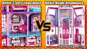 barbie dreamhouse barbie 3 story dream town house vs barbie malibu dreamhouse