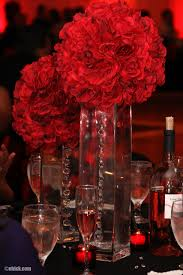 Black And Red Vase Black And Red Theme Wedding Ceremony And Reception In Tampa