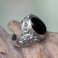 black opal mens ring mens onyx rings men u0027s onyx rings at novica