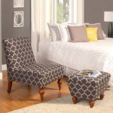 armless chair and ottoman set homepop susan armless accent chair ottoman set homepop