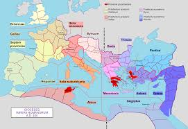 Map Of The Roman Empire Dioceses Of The Roman Empire In 400 Ad 2042 X 1404 Mapporn