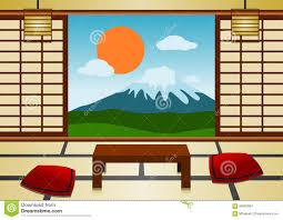 Japanese Room Japanese Room Stock Vector Image 66860997