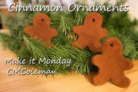 make it monday cinnamon ornaments