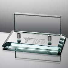 engraved office gifts jade glass business card holder for doctors