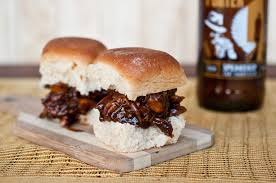 beer braised chicken sliders with hoisin beer barbecue sauce the
