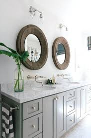 cherry wood bathroom mirrorfalls bathroom trend round mirrors