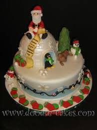 Christmas Cake Decorations Pinterest by Omg Cutest Christmas Cake Ever Who Wants Me To Make Them One