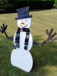 build wooden snowman tos diy