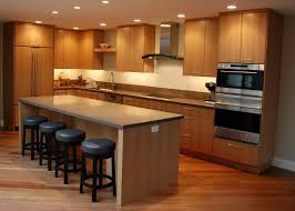 kitchen furniture dark brown teak wood island and stools