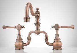 antique brass kitchen faucets shower bellevue bridge kitchen faucet with brass sprayer lever