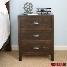 ana white diy 3 drawer nightstand diy projects