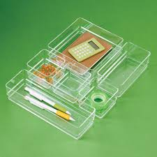 Acrylic Desk Drawer Organizer Acrylic Drawer Organizer Set The Container Store