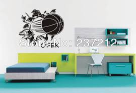 compare prices on room basketball online shopping buy low price 3d removable basketball busting through wall vinyl decal sticker kids room decor sport boy art bedroom