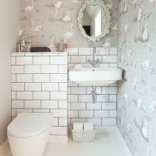 wallpaper designs for bathrooms the 25 best small bathroom wallpaper ideas on half