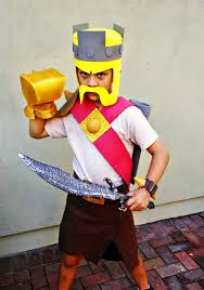 Halloween King Costume Clash Clans Barbarian King Costume Halloween