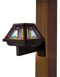 Solar Lights On Fence Posts by Moonrays 91241 Stained Glass Solar Post Cap Lamp Led Is 6x