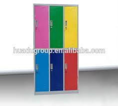 metal kids lockers 6 doors steel colorful metal school student locker storage cabinet
