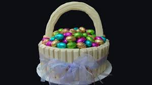 Decorating Easter Basket Ideas by Easter Basket Cake With Chocolate Eggs Youtube