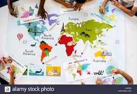 World Map With Continents And Oceans by Kids Learning World Map With Continents Countries Ocean Geography