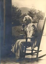 Old Man In Rocking Chair Samuel Langhorne Clemens Mark Twain Historic Missourians The