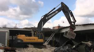 volvo site volvo ec460c on a demolition site youtube