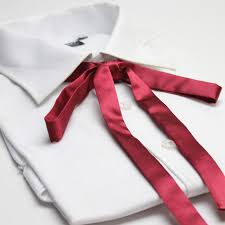 tie ribbon aliexpress buy elegent shirt neckwear solid silk like stain
