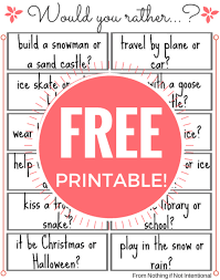 24 fun would you rather questions for kids free printable