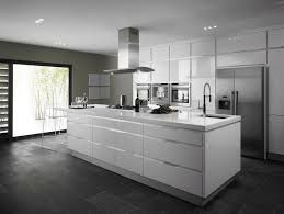 id ilot cuisine cuisine blanc laque avec ilot 12 design blanche systembase co