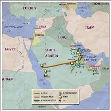 The Middle East Map by The Geopolitics Of Oil And Gas Pipelines In The Middle East