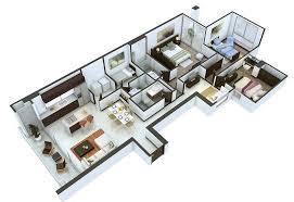 Building Plans For 3 Bedroom House 25 More 3 Bedroom 3d Floor Plans