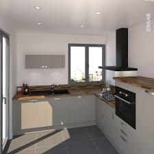 plan de travail cuisine en granit prix cuisine gris taupe et bois aux lignes modernes implantation en l