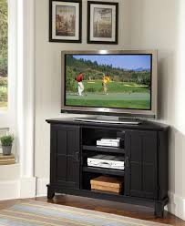triangle tv stand small corner black lacquer with doors plain