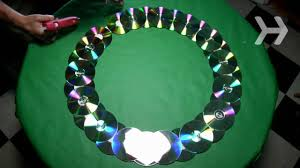 Designs Of Wall Hanging With C D How To Make A Wreath Out Of Old Cds Youtube