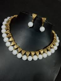 fashion necklace wholesale images Glorious western styled loops necklace set wholesale indian jpg