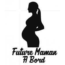 future maman stickers futur maman a bord grafik stick