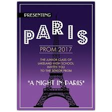Eiffel Tower Invitations Eiffel Tower Prom Invitations Paperstyle