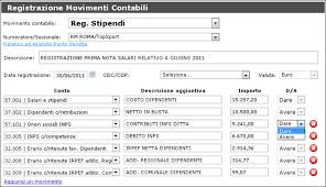 registrazione contabile